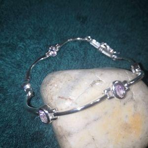 NWOT 925 silver amethyst bracelet